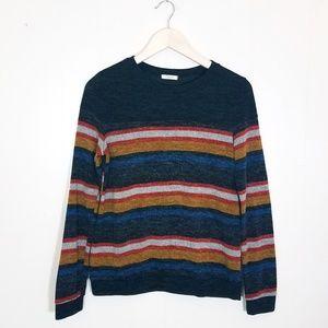 12pm By Mon Ami Striped Cozy Retro Sweater